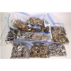 900 + .38 Special brass cases, 600+ .38 Special nickel cases and 8 577/450 brass cases.