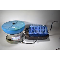 Selection of brass cleaning supplies and equipment including a Dillion Precision Magnum FL 2000 Bras