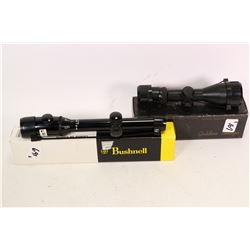 Two scopes including Leapers Gold Dragon series 3-9X40 mini sporting type scope and a Bushnell Scope