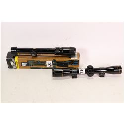 Two scopes including Nikko Stirling gold crown 2.5X32 scope and a Bushnell Banner rifle scope 1.5-4X