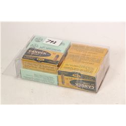 Selection of .32 caliber ammunition including three 50 count boxes of CIL Canuck .32 Long, one 50 co