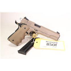 Restricted handgun Sig Sauer model 1911-22, .22 LR ten semi automatic, w/ bbl length 127mm [Tan fini