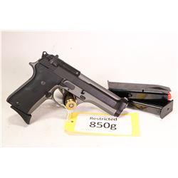 Restricted handgun Beretta model 92SB, 9mm ten shot semi automatic, w/ bbl length 109mm [Two tone bl