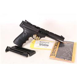 Restricted handgun Browning model Buck Mark, .22 LR ten shot semi automatic, w/ bbl length 140mm [Bl