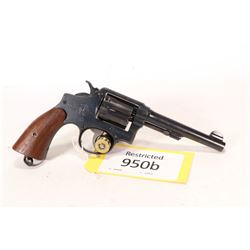 Restricted handgun Smith & Wesson model Hand Ejector 38 M&P, .38 S&W six shot double action revolver