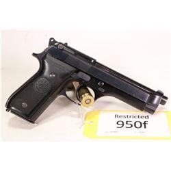 Restricted handgun Beretta model 92S, 9mm ten shot semi automatic, w/ bbl length 125mm [Blued finish