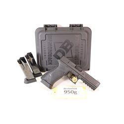 Restricted handgun Diamondback model F5-Nine, 9mm luger semi automatic, w/ bbl length 121mm [Black f