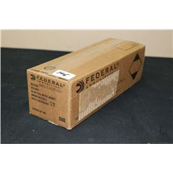 Full case of five boxes X 100 rounds (500 in total) of Federal American Eagle .223 REM, 55 grain ful