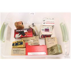 """Selection of ammunition including a full 25 count box of Winchester Super Target 20 gauge 2 3/4"""", a"""