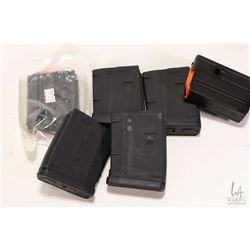 Six 10 round LAR-15 pistol magazines .223 cal. four polymer and two steel.