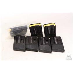 Seven 10 round LAR 15 pistol magazines. 222/5.5 Nato caliber.