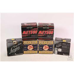 "Selection of 12 gauge shot gun ammunition including two 25 count boxes of Meteor 12 gauge 2 3/4"" no."