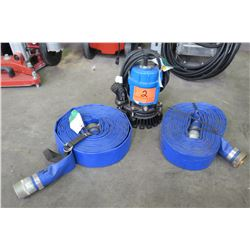 Tsurumi Submersible Pump with 2 Hoses
