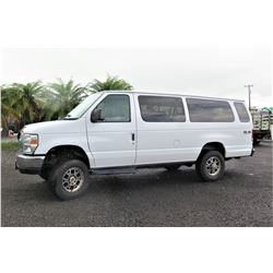 2013 Ford E350 XLT Super Duty 4-Wheel Drive 4X4 Passenger Van, 85969 Miles (Runs, Drives, See Video)