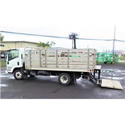 2007 Isuzu 14' Stakebed Truck w/ Lift Gate, 92967 Miles, Lic. 122HED (Runs, Drives, See Video)