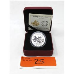 "2015 Canada .9999 Silver ""Maple Leaf "" Coin"