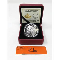 2015 Canadian .9999 Fine Silver $20 Grizzly Coin