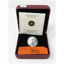 "2013 Canadian .9999 Silver ""Yr. of the Snake"" Coin"