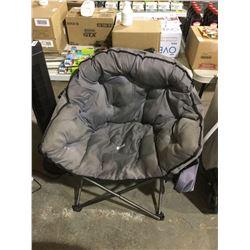 Folding Camp Chair - Grey