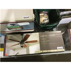 "Allen and Roth Castine 52"" Aged Bronze Finish Ceiling Fan"