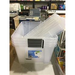 Iris Clear Stack 42L Totes Lot of 3