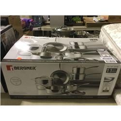 BergnerClad Stainless Steel Cookware Set -RETURN, SOLD AS IS