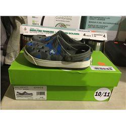 Crocs Kids Grey/Blue Size 10/11