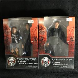 TERMINATOR GENISYS ACTION FIGURE LOT (T-1000 POLICE DISGUISE, T-800 GUARDIAN)