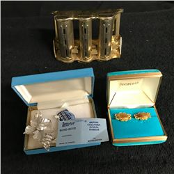 STERLING SILVER JEWELRY LOT w/ ANTIQUE COIN DISPENSER