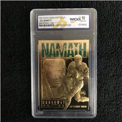 "1997 BLEACHERS 23KT GOLD JOE NAMATH ""BROADWAY JOE"" LE (WCG 10)"