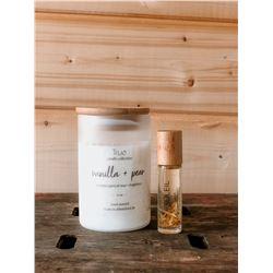 Vanilla Pear Candle & Soleil Perfume
