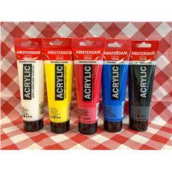 Acrylic Paint set - Primary colours