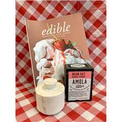 Abbott marble spice jar & Hickory Smoked bacon salt