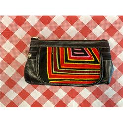 Leather Mola Decorated Make Up Purse