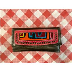 Leather mola embrodery wallet