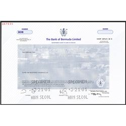 Bank of Bermuda Ltd., 2001 Specimen Stock.