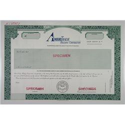 AmeriTrade Holding Corp., 1970-1980 Specimen Stock Certificate