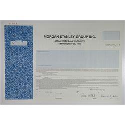 Morgan Stanley Group Inc. 1994 Specimen  Japan Index Call Warrants .