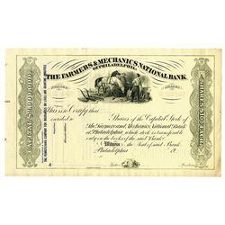 Farmers & Mechanics National Bank, ca.1900-20 Specimen Stock Certificate