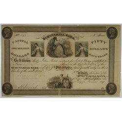 Schuylkill Bank 1837 I/U Stock Certificate