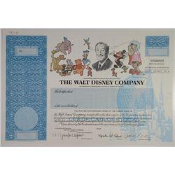 Walt Disney Co., 1996 Specimen Stock Certificate