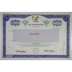 FTD Corp. 1960-70Specimen Stock Certificate From Well Known Flower Delivery Company.