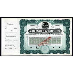 Horn & Hardart Co. ca. 1910 Specimen Stock Certificate.