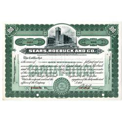 Sears, Roebuck and Co., 1946 Specimen Stock Certificate.