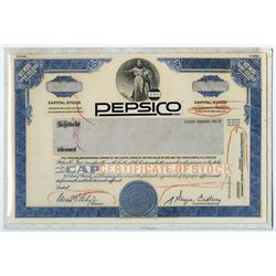 PepsiCo Inc., 1988 Unique Production Mockup Stock Certificate