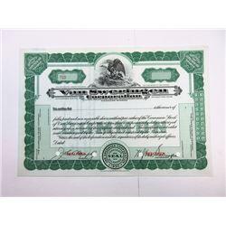 Van Sweringen Corp., 1930 <100 Shrs Specimen Stock Certificate, XF SBNC