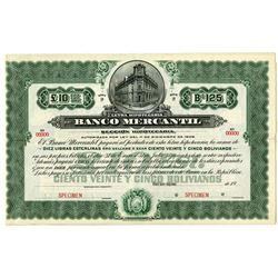 Banco Mercantil Specimen Bond.