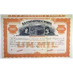 La Constructora 1900-20 Specimen Bond