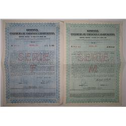 Pair of Compania Salitrera de Tarapaca y Antofagasta 1934 Bonds
