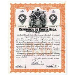 Republica de Costa Rica, 1936 Specimen Bond